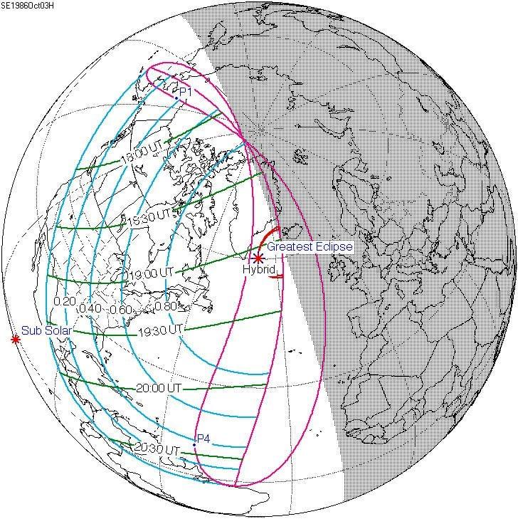 Solar eclipse of October 3, 1986
