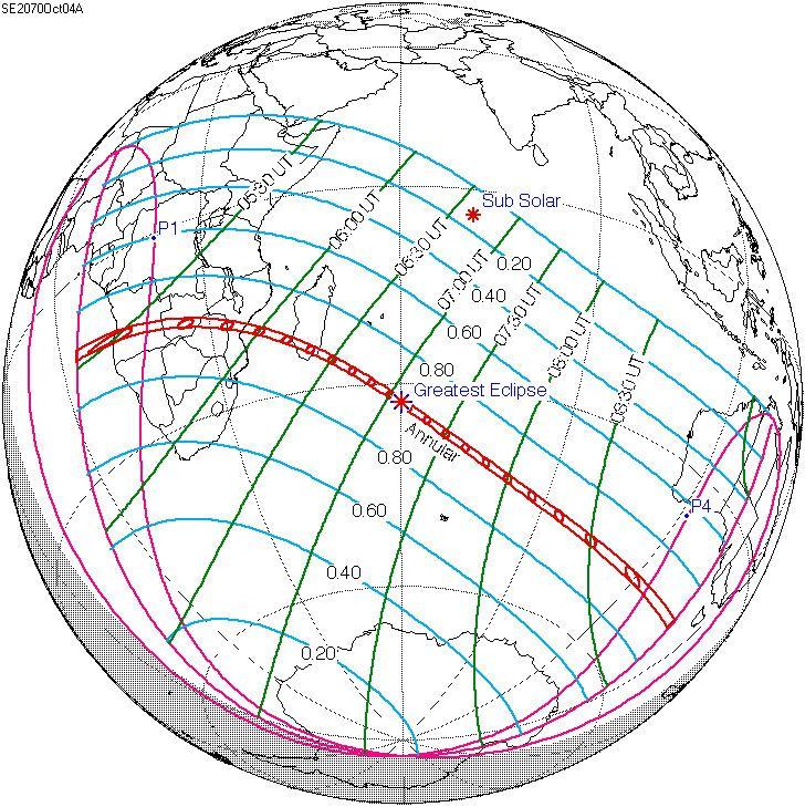 Solar eclipse of October 4, 2070