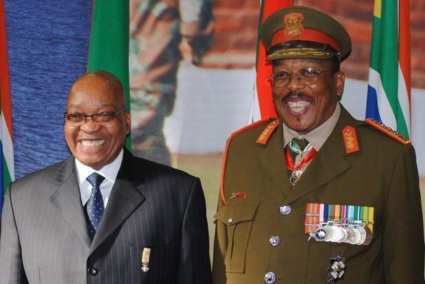 Solly Shoke New SAfrican defence chief takes over in spectacular