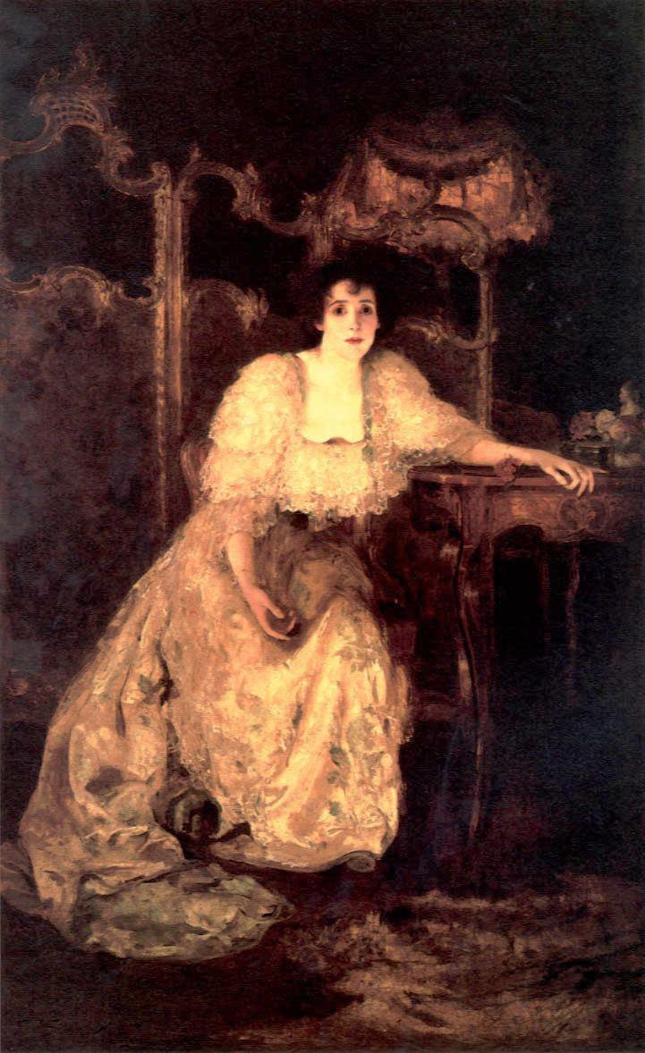 Solomon Joseph Solomon Portrait of a Lady by Solomon Joseph Solomon