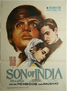 Son of India (1962 film) movie poster
