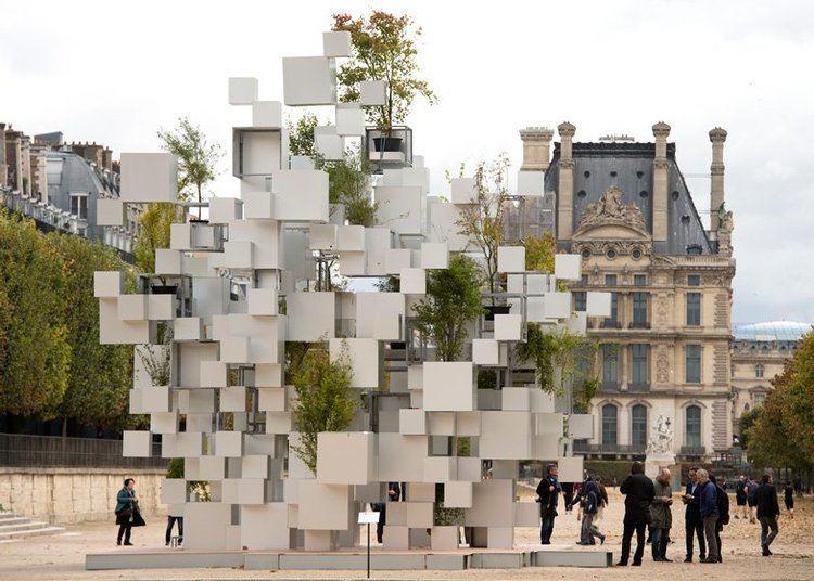 Sou Fujimoto Sou Fujimoto stacks aluminium boxes for quotnomadic house