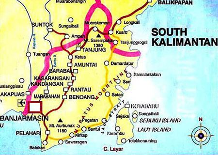 SOUTH KALIMANTAN THE INDONESIA TOURISM MAP