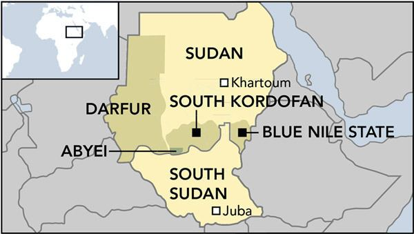 South Kordofan and Blue Nile the Sudanese border regions caught