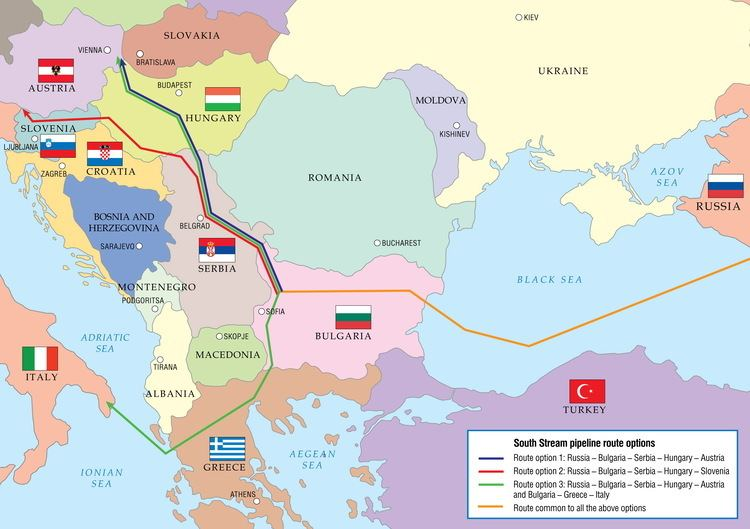South Stream Stream is estimated to cost EUR 155 billion