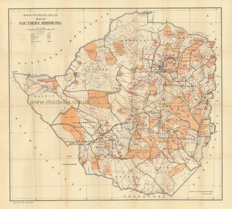 Southern Rhodesia Rhodesian Maps Archive of Rhodesia
