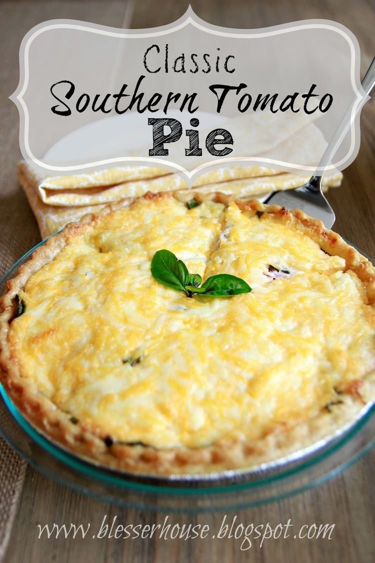 Southern tomato pie Classic Southern Tomato Pie Bless39er House