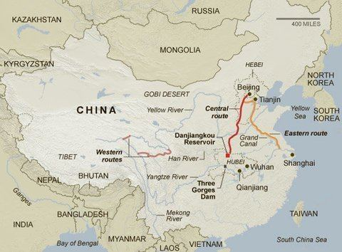 South–North Water Transfer Project Water From China39s SouthNorth Transfer Project Flows to Beijing