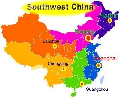 Southwest China Southwest China population 192979240 Area Km2 2365900 km