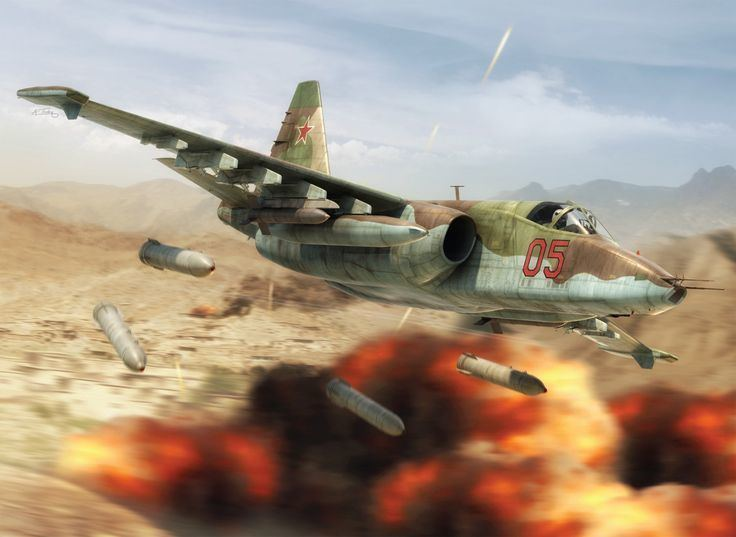 Soviet Air Forces A Soviet Air Force Su25 seen performing attacks on a mujahedeen