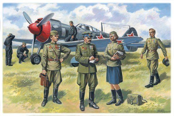 Soviet Air Forces Figures ICM Holding Plastic model Kits