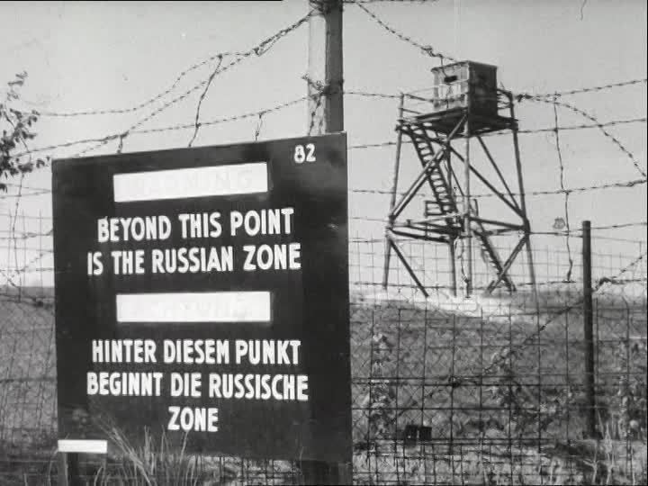 Soviet occupation zone Border Crossing 19401949 Germany SD Stock Video 864212336