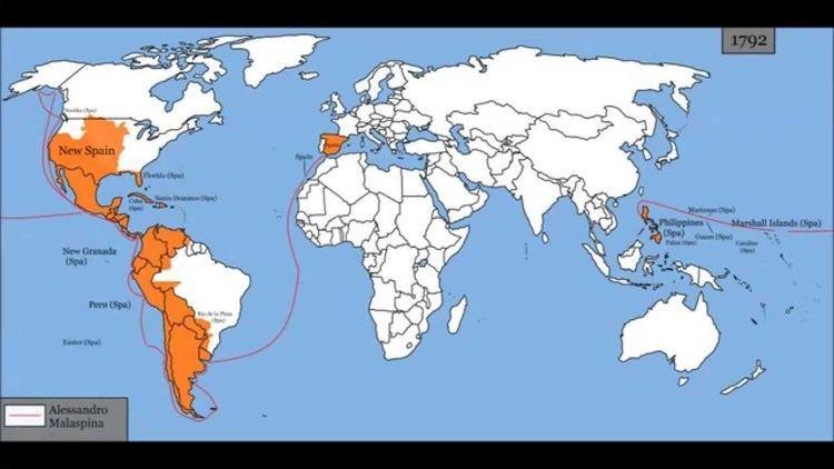 Spanish Empire Map of Spanish Empire 14921977 YouTube