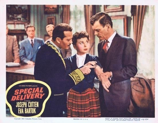 Special Delivery (1955 film) SPECIAL DELIVERY Lobby Card 4 1955 Joesph Cotton Eva Bartok