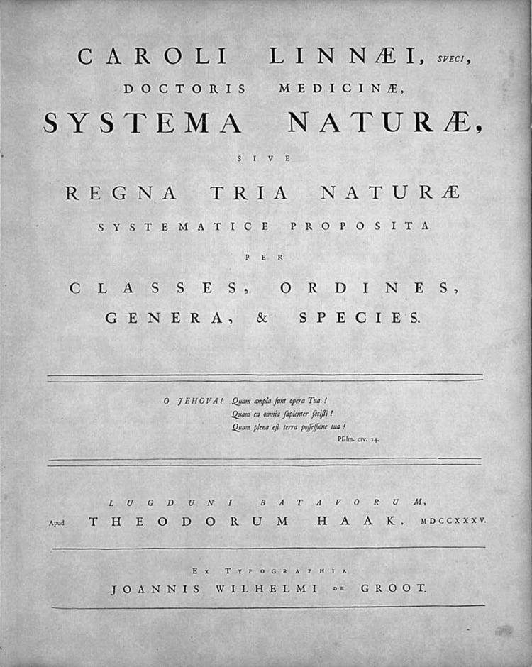 Species description
