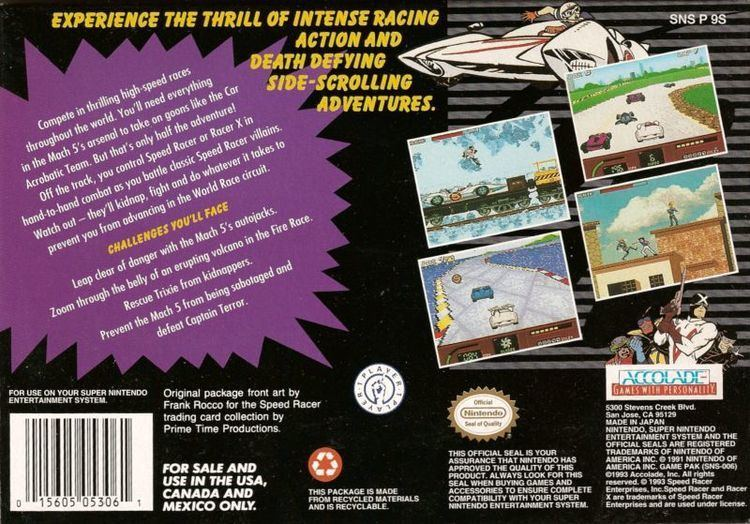 Speed Racer in My Most Dangerous Adventures Speed Racer in My Most Dangerous Adventures 1994 SNES box cover