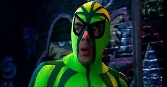 Spider-Plant Man Mr Bean is SpiderPlant Man