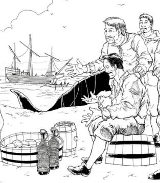 Spánverjavígin Spnverjavgin 1615 Baskneskir hvalveiimenn slandi
