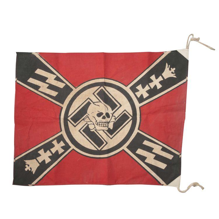 SS Heimwehr Danzig Lot 215 WWII SS Heimwehr Danzig Flag Akiba Antiques