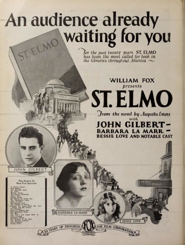 St. Elmo (1923 American film) Alabama Yesterdays Films Based on Augusta Wilsons 1867 Novel St Elmo