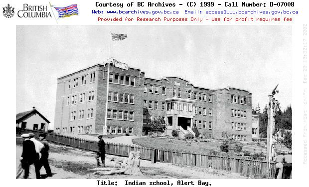 St. Michael's Indian Residential School (Alert Bay) Vanishing BC Alert Bay