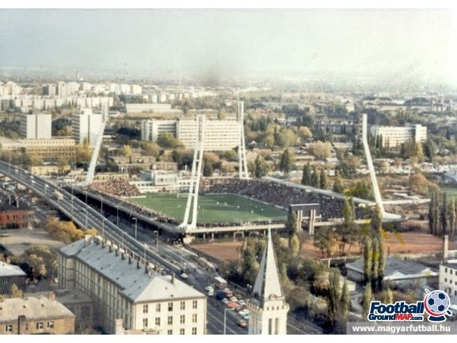 Stadion Albert Flórián Stadion Albert Florian former home to Ferencvaros Football Ground Map