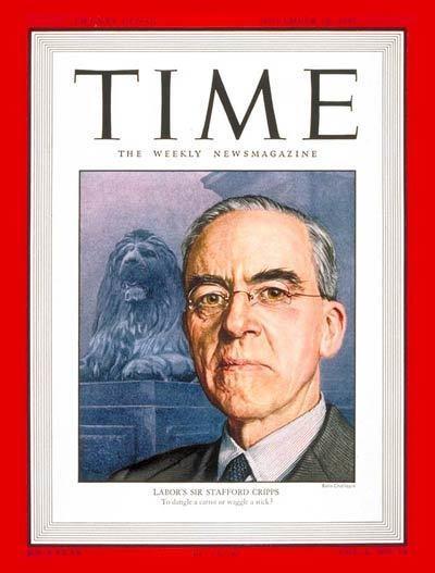 Stafford Cripps TIME Magazine Cover Sir Stafford Cripps Nov 10 1947
