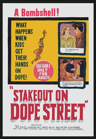 Stakeout on Dope Street STAKEOUT ON DOPE STREET DVD 1958 Heroin Movie Beatnik Junkies