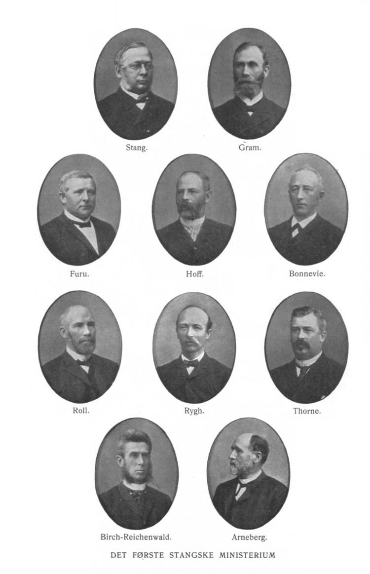 Stang's First Cabinet