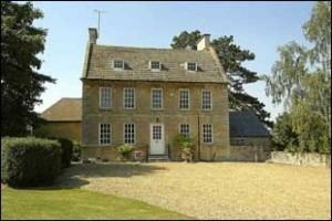 A front view of Stanwick Hall, Northamptonshire.