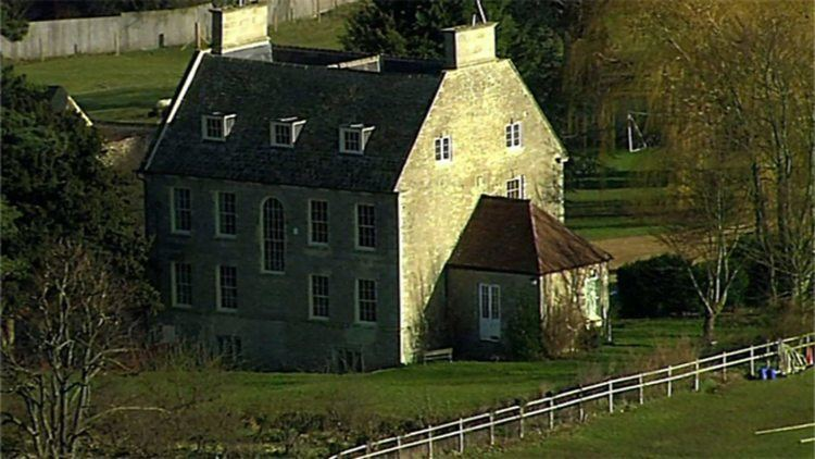 Stanwick Hall in Northamptonshire as seen in BBC TV series Restoration Home Season 1, Episode 4 with a fence on the side.