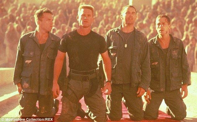 Stargate (film) movie scenes Celebrity cast Kurt Russell starred alongside James Spader in the 1994 movie