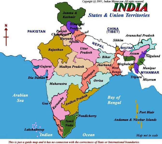 States and union territories of India INDIAN MIRROR States and Union Territories