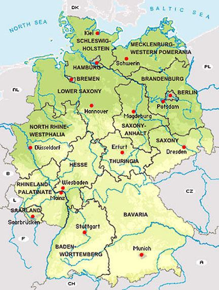States of Germany States of the Federal Republic of Germany