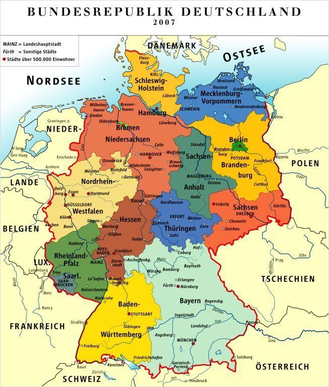 States of Germany German States Basic facts photos amp map of the states of Germany