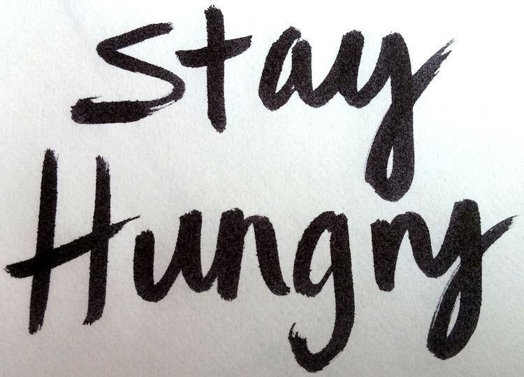 Stay Hungry The 100 Postcards Project Hand Lettered Stay Hungry Postcard 30