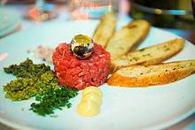 Steak tartare httpsuploadwikimediaorgwikipediacommonsthu
