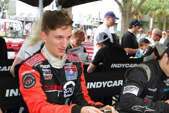 Stefan Rzadzinski Video Edmonton racer beats Indy 500 winner in Race of Champions