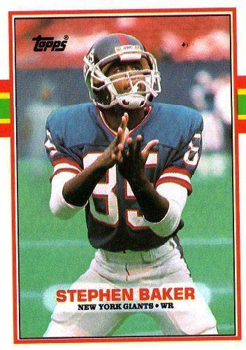 Stephen Baker (American football) NEW YORK GIANTS Stephen Baker 174 TOPPS 1989 NFL American Football