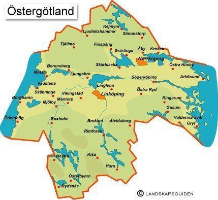 Östergötland ostergotlandkarta