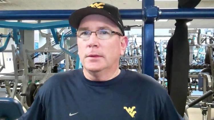 Steve Dunlap WVU Spring Football Practice 041311 Safeties Coach Steve Dunlap
