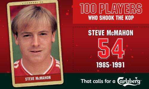 Steve McMahon 100PWSTK 54 Steve McMahon Liverpool FC