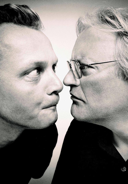 Steve McNicholas STOMP creators Luke Cresswell and Steve McNicholas StageTalk Magazine