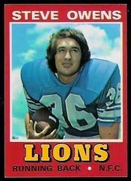 Steve Owens (American football) Steve Owens 1974 Wonder Bread 28 Vintage Football Card Gallery