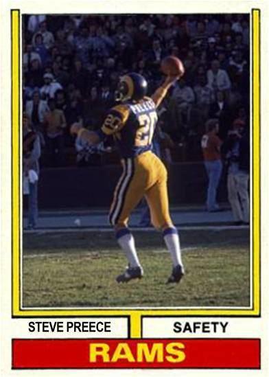 Steve Preece Steve Preece Los Angeles Rams 1970s Football Cards Pinterest