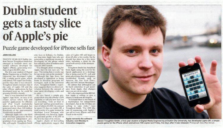 Steven Troughton-Smith International mLearning Education award for Irish iPhone app
