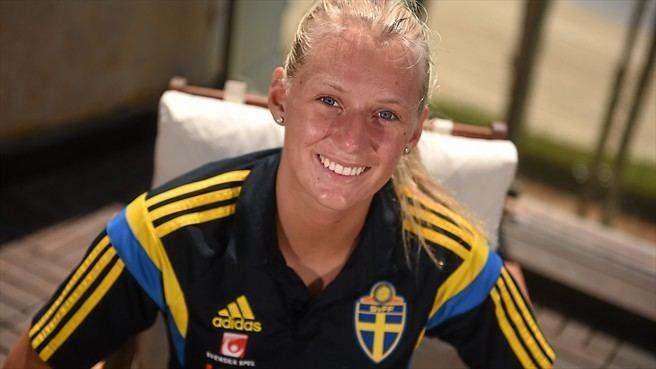 Stina Blackstenius Blackstenius happy to share spotlight on Sweden Women39s