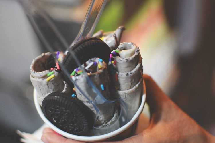 Stir-fried ice cream Like Ice Cream Then You39ll LOVE Thai Stir Fried Ice Cream Fork