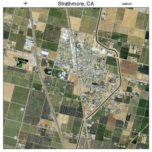 Strathmore, California wwwlandsatcomtownaerialmapcaliforniastrathm