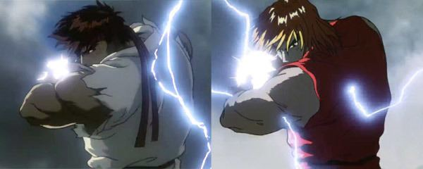 Street Fighter Alpha: The Animation movie scenes Street Fighter II The Animated Movie
